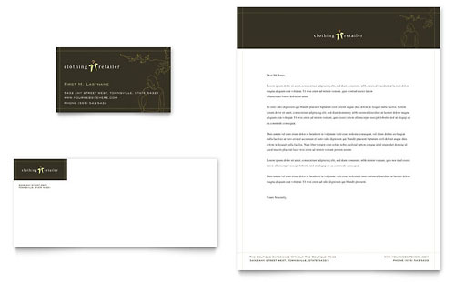 Women's Clothing Store Business Card & Letterhead