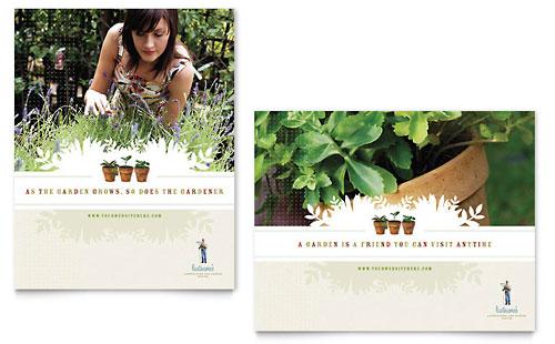 landscape  u0026 garden store brochure template design