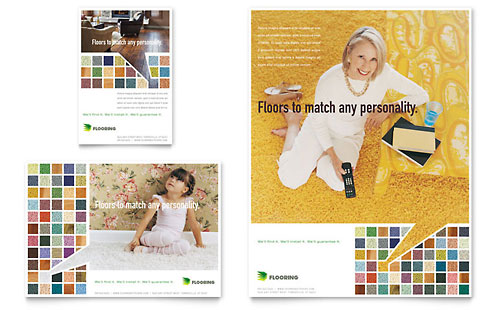 Carpet & Hardwood Flooring Flyer & Ad