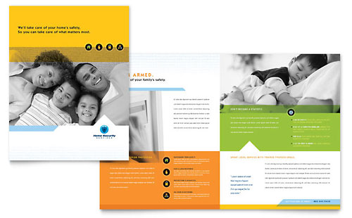 Home Security Systems Brochure Template Design