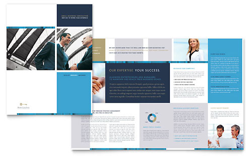 Small Business Consulting Brochure Design Template