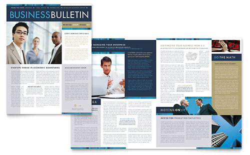 Small Business Consulting Newsletter Template Design