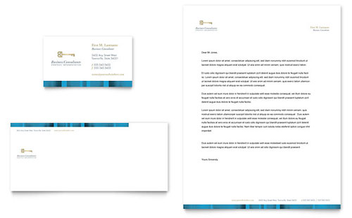 Small Business Consulting Business Card & Letterhead