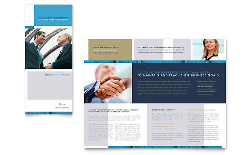 Small Business Consulting Tri Fold Brochure Template Design