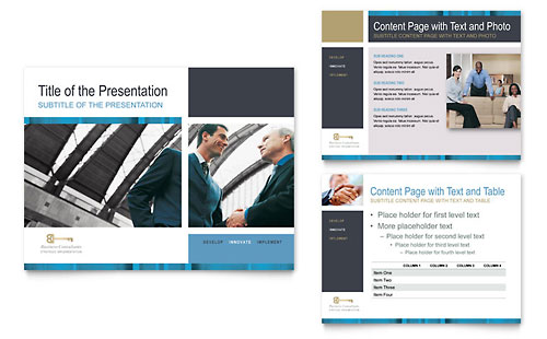 Small Business Consulting PowerPoint Presentation Template Design