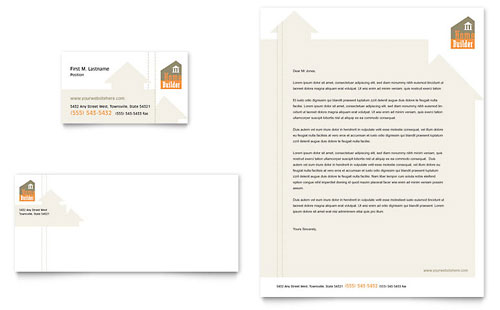 Home Building Carpentry Business Card & Letterhead