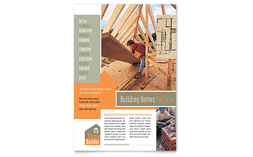 Home Building Carpentry Flyer Template