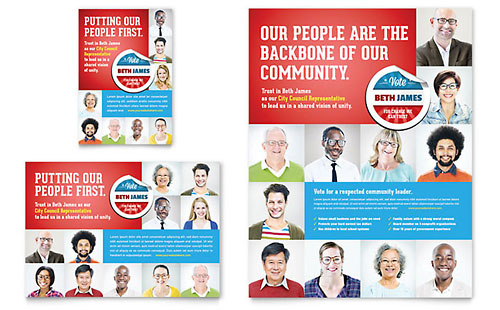 Political Candidate Flyer & Ad Template