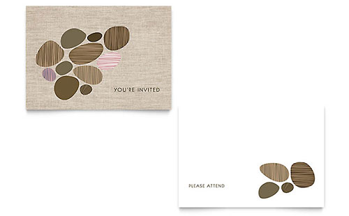 you re invited note card template design