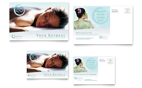 Day Spa & Resort Postcard Template