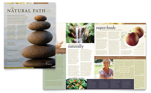 Naturopathic Medicine Newsletter Template Design