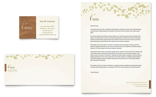 Naturopathic Medicine Business Card & Letterhead