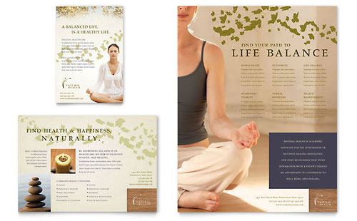 Naturopathic Medicine Flyer & Ad Template Design