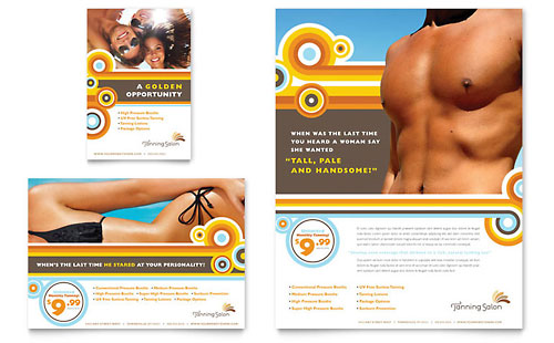Tanning Salon Flyer & Ad