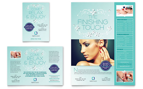Nail Technician Flyer & Ad Template Design