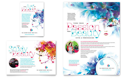 Cosmetology Flyer & Ad Template Design
