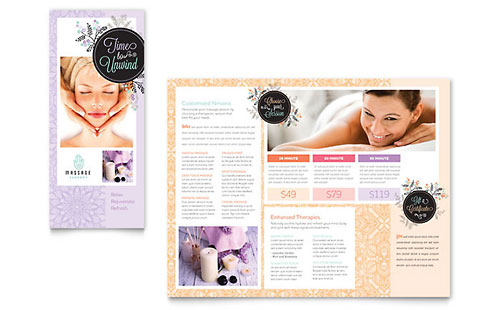 Beauty Tri-Fold Brochure Templates & Examples