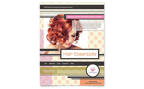 Hairstylist Flyer Template Design