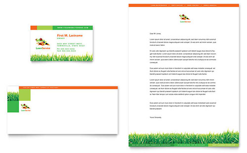 Lawn Maintenance Business Card & Letterhead