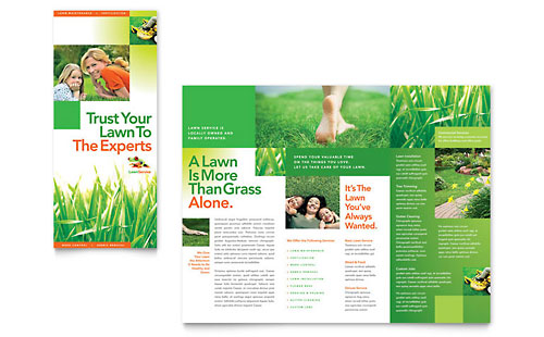 Lawn Maintenance Tri Fold Brochure Template