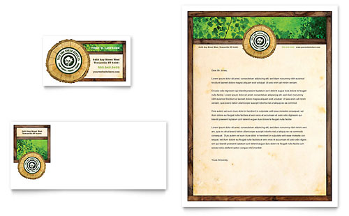 Tree Service Tri Fold Brochure Template Design