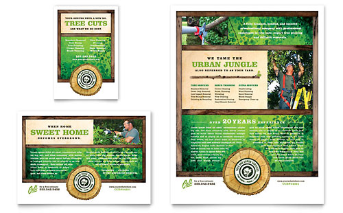 Tree Service Flyer & Ad Template Design