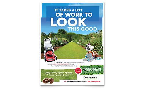 landscape garden store brochure template design