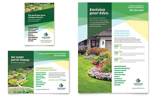 Landscaper Flyer & Ad Template Design