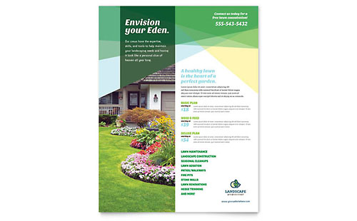 Landscaper Flyer Template Design