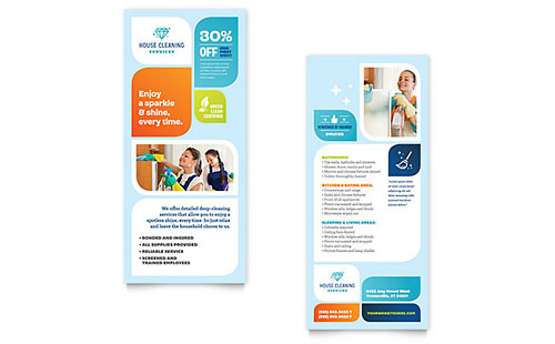 Cleaning Services Rack Card Template Design