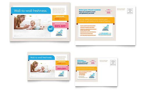 Carpet Cleaning Postcard Template Design