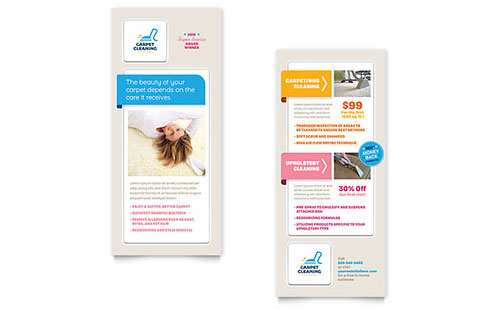 Carpet Cleaning Rack Card Template Design