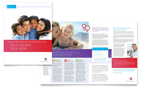 Medical Insurance Brochure Print Design Template