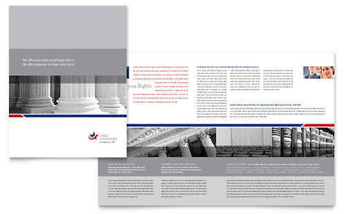 Legal & Government Services Brochure Template Design