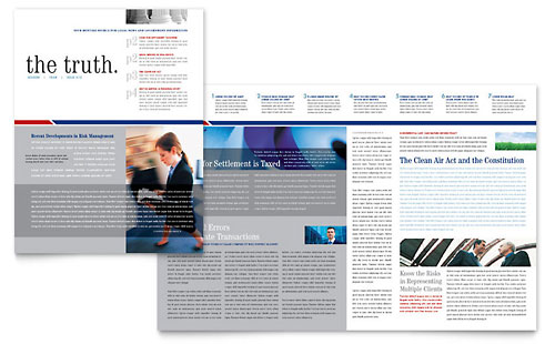 Legal & Government Services Newsletter Template Design