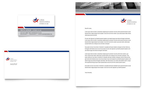 Legal & Government Services Business Card & Letterhead
