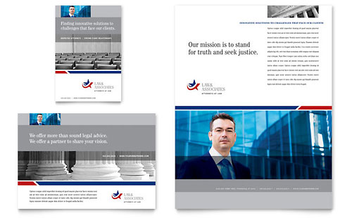 Legal & Government Services Flyer & Ad Template Design