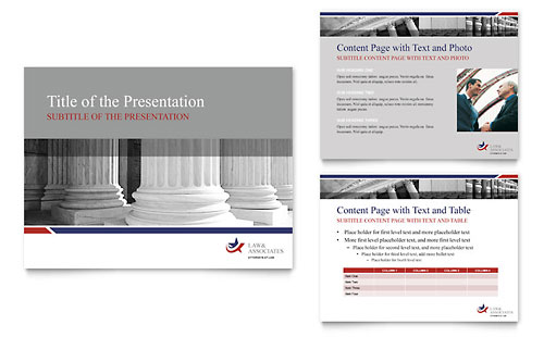 Legal & Government Services PowerPoint Presentation Design Template