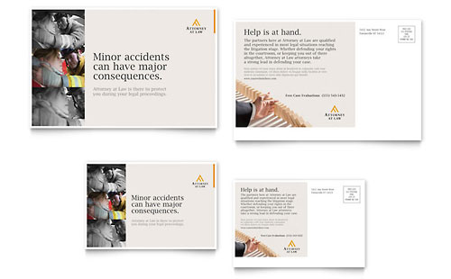 Legal Advocacy Postcard Template Design