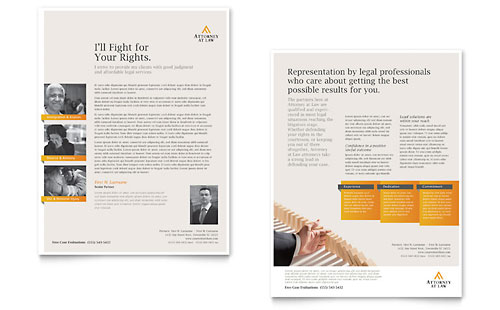 Legal Advocacy Datasheet Design Template