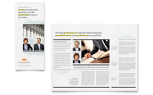 Attorney Tri Fold Brochure Template Design