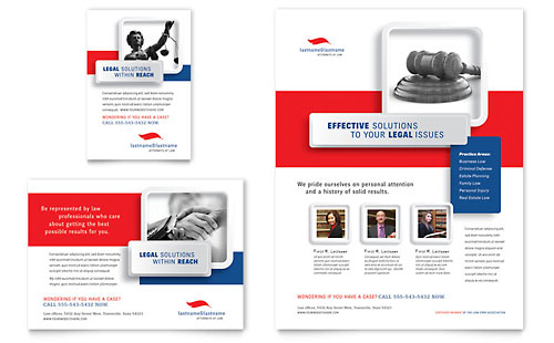 Justice Legal Services Flyer & Ad Template