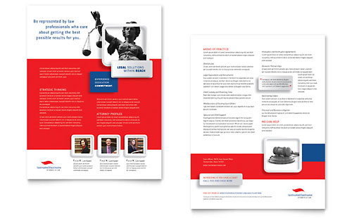 Justice Legal Services Datasheet Design Template