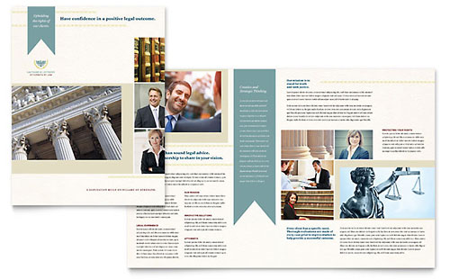 Law Firm Brochure Illustrator Template