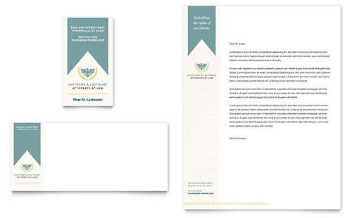 Attorney letterheads templates graphic designs law firm business card letterhead spiritdancerdesigns Gallery