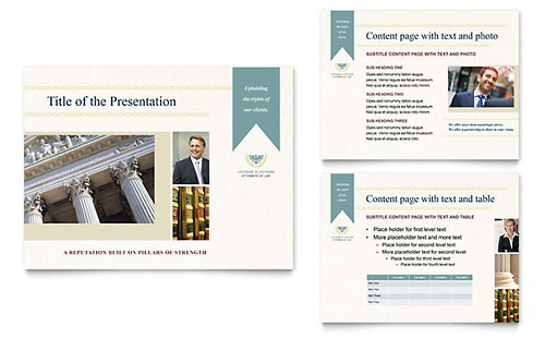 Law Firm Presentation PowerPoint Template