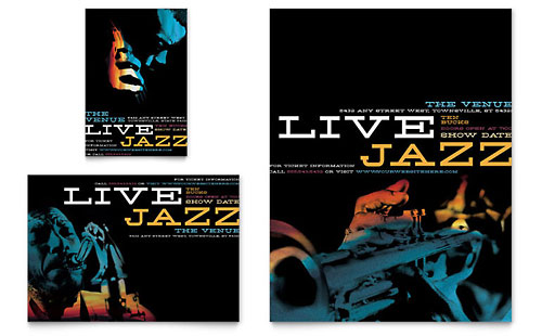 Jazz Music Event Flyer & Ad Design Template