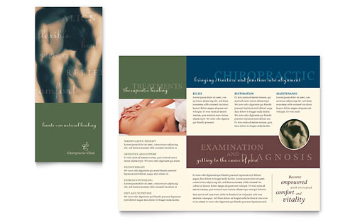 Chiropractor Brochure Template Design