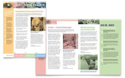 Physicians Office  Newsletter Templates  Medical  Health Care