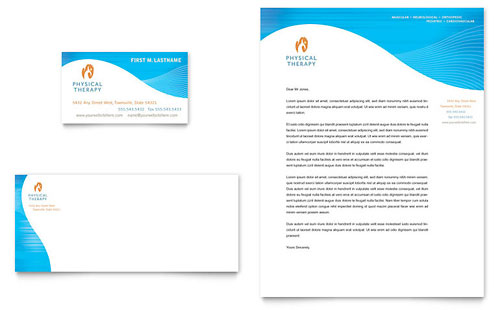 Physical Therapist Business Card & Letterhead